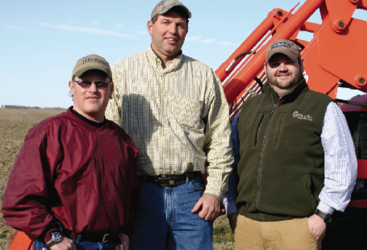 "Todd Mulloy, left, with Stratton Seed Company, Jackie Ray Banks and RiceTec's Wes Long look forward to a more ""normal"" season."