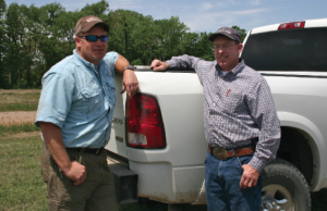 Pete, left, and Chico Williams are third-generation farmers at Lakeland Planting Co. near Hollandale, Miss