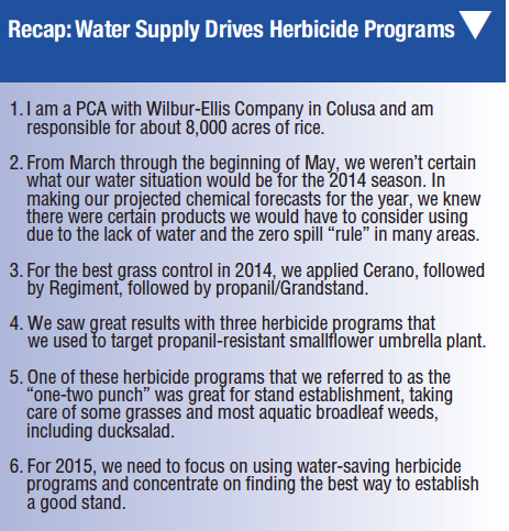Water Supply Drives Herbicide Programs | Rice Farming