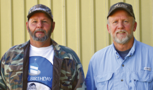 Sanders, left, and Vawter worked at the David R. Wintermann Rice Research Station at Eagle Lake for 30 and 38 years, respectively.