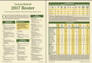 2017 Rice variety/hybrid roster