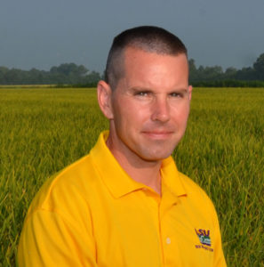 Dustin Harrell, L:Su AgCenter rice specialist