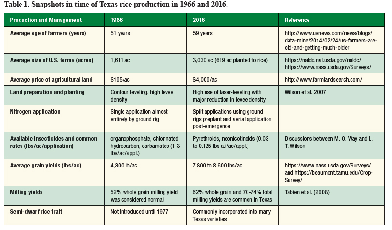 Texas rice production snapshot