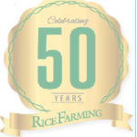 Rice Farming 50th anniversary logo
