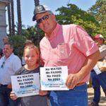 Sacramento Capitol water rally