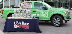 ride with rice truck