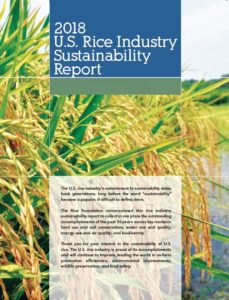usa rice sustainability report