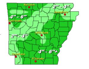 January rainfall totals