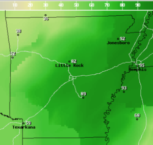 rain probability map