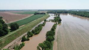 flooded fields, jefferson county, arkansas