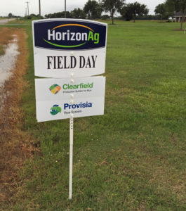 horizon ag field day sign