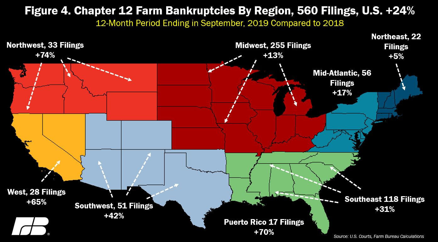 chapter 12 filings by region
