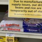 out of stock shelves