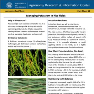 ucce rice fact sheets