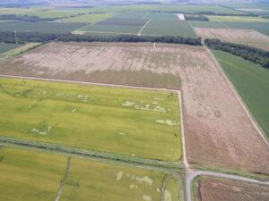 drone footage of damage near England AR